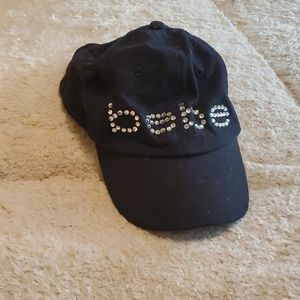 EUC Bebe logo authentic Rhinestone velcro hat
